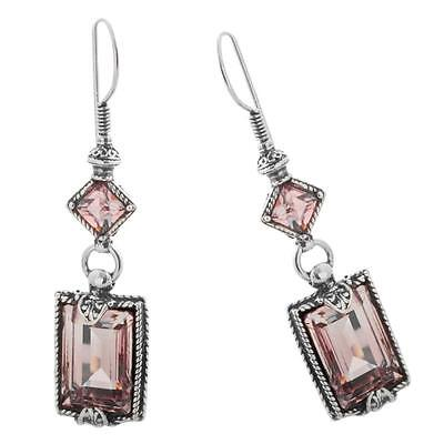 S118 ~ Sterling Silver & Swarovski Medieval Drop Earrings