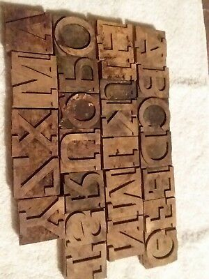 Wooden letterpress type alphabet
