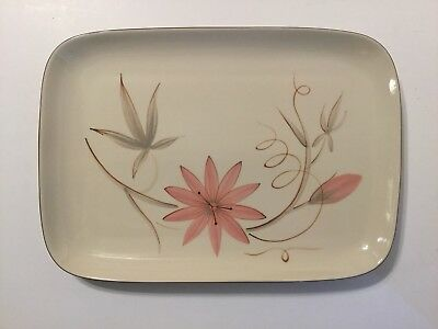 """Winfield Vintage China Passion Flower 14"""" Rectangular Serving Platter Tray - USA"""