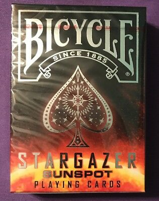 """NEW 1 Deck Bicycle """"Stargazer Sunspot"""" Playing Cards--Free Shipping"""