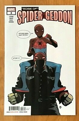 Edge of Spider-Geddon 3 2018 Tonci Zonjic Main Cover + Cully Hamner Variant NM+
