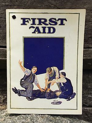 Vintage 1939 Prudential Insurance Co FIRST AID Suggestions Booklet