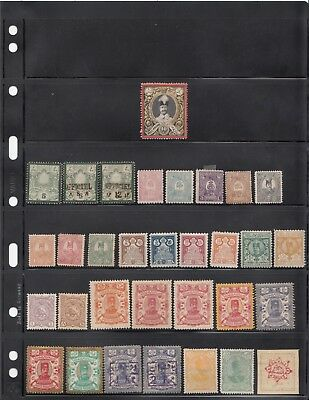 Persia Persanes Group of Mint & Used Stamps on Vario Pages w/many scarce issues