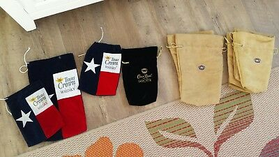 Large Lot of 35 Crown Royal Felt/Suede Bags w/Drawstring bags