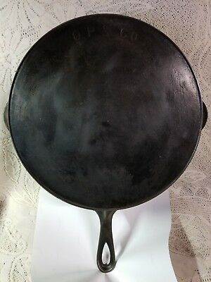 ANTIQUE O.P. & CO. NO.12 Cast Iron W/ Heat Ring 1880's Orr & Painter Reading, PA