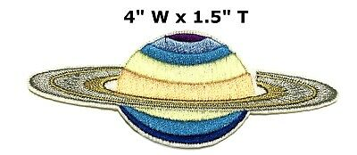 Saturn Planet with Rings Outer Space NASA Iron or Sew-on Applique Patch