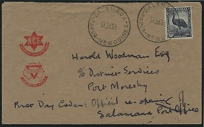 PAPUA NEW GUINEA - cover from SALAMAUA to Port Moresby-14.01.1946 - SM-1 -  129