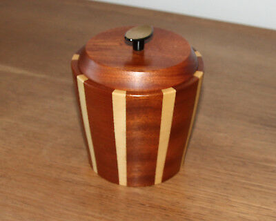 Lancraft Vintage Wood Ware Sugar Coffee Tea Ice Bucket 1950s/60s