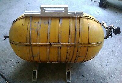 WWII? RARE Vintage Military Aircraft Oxygen Tank Converted to AIR TANK Org Paint