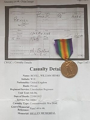 WW1 PAIR medals KIA GALLIPOLI 20/09/1915 6TH BATT Lincs Regt FROM MANSFIELD