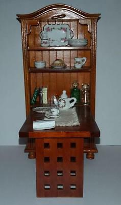 Dollhouse Miniature Folding Table and Accessories by Reutter Porcelain