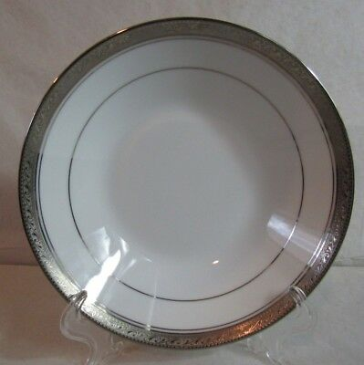 "1- NORITAKE LEGENDARY  Crestwood Platinum Coupe Soup Bowl  7.5"" 7 available"