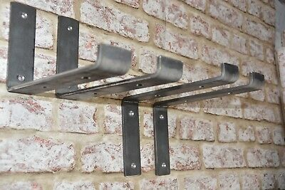 Pair Scaffold Board Heavy Duty Shelf Brackets Industrial Handmade 225mm SS/SU