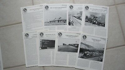 8 GN Great Northern Historical Society Magazines from 1993