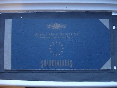 Queen's Moat Hotels Shareholders Voucher Booklet 1992