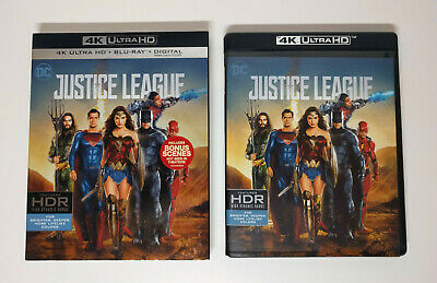 Justice League - 4K UHD + Blu-ray (2-Disc) w/ Mint Slipcover - No digital