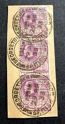 British Guyana - 3 used stamps on paper 1933