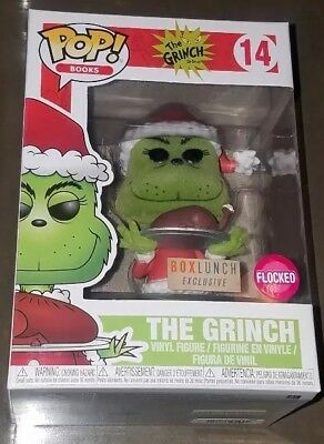 Funko Pop Books #14 Flocked The Grinch with Roast Beef Box Lunch Exclusive
