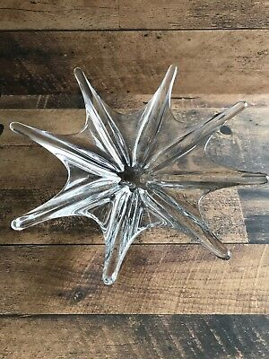 Baccarat Crystal Starfish Centrepiece Large France Was Excellent Mid-Century Mod
