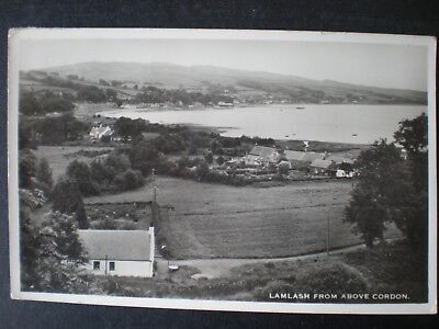 Lamlash from above Cordon Isle of Arran Scotland RP Postcard