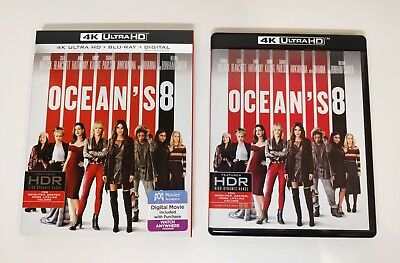 Ocean's 8 Eight - 4K UHD + Blu-ray (2-Disc) w/ Mint Slipcover - No digital