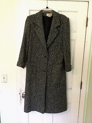 Cassidy Women's Long Wool Coat Fully Lined - Small (4)