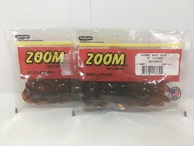 "#002-273 Motoroil Red 2 PCKS 9cnt ZOOM 6/"" Lizard"