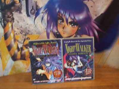 Night Walker Complete Collection (Vampire) U.S. Manga 2001, 2003 Anime DVD USED
