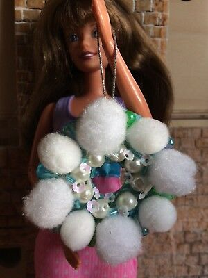 Hand Made Barbie/Sindy or Similar Dolls House Xmas Door Reef Baubles
