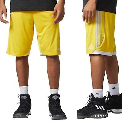 Adidas BIG & TALL Men's 3G Climalite Speed Shorts YELLOW (Size 4XLT) NWT