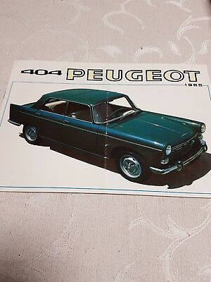 ancien catalogue peugeot 404