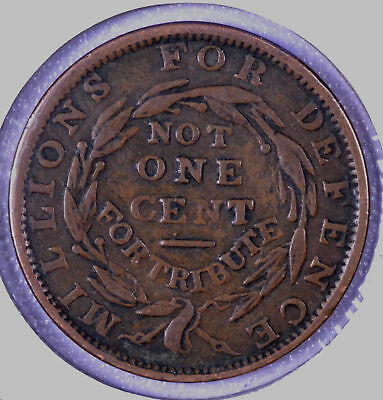 "1837 ""Not One Cent"" Hard Times Token HT-51"