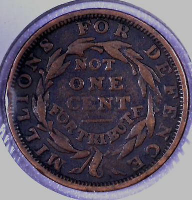 "1837 ""Not One Cent"" Hard Times Token HT-50"