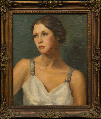 Ivan Olinsky  (1878 - 1962) New York Listed Artist Portrait Oil Painting