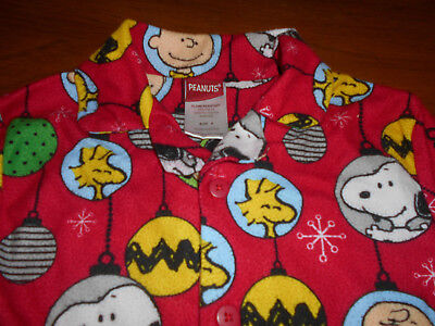 Peanuts Boys Christmas Pajamas Size 8, Great Per-Owned Condition