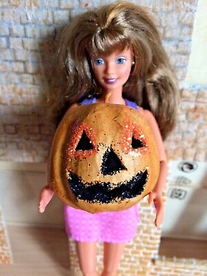 Hand Decorated Halloween Punking ideal for a Barbie/Sindy Dolls House
