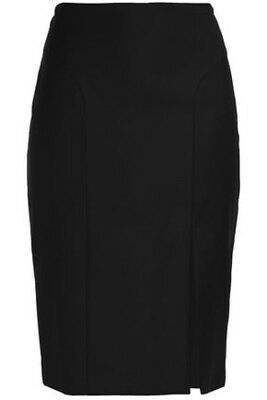 JOSEPH Wool-twill pencil skirt Black Size 38/UK 10 Excellent Condition