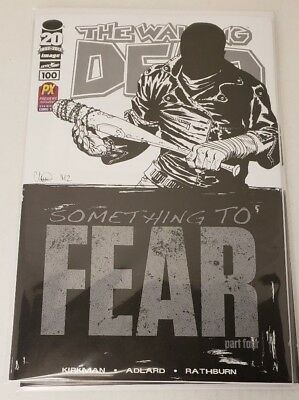 The Walking Dead #100 2013 SDCC PX Previews Exclusive B&W Sketch Variant 168 169