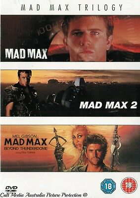 Mad Max Trilogy 1 2 3 The Original Films Collection New 3 Movies 3 Dvd R4