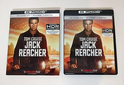 Jack Reacher - 4K UHD + Blu-ray w/ Slipcover *LIKE NEW* - No digital