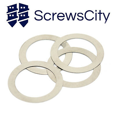 A2 Stainless Steel Shim Washers Shims  0.1mm 0.2mm 0.5mm 1mm Thick  DIN 988