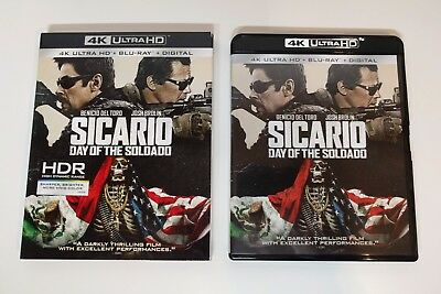 Sicario: Day of the Soldado 4K UHD + Blu-ray w/ Near Mint Slipcover -No digital