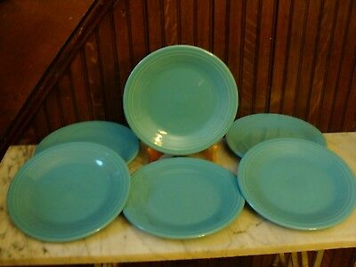 "NEW Six 6 Fiesta  10-1/2"" Dinner Plates –Classic Turquoise"