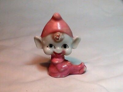 Vintage Pixie / Elf Porcelain Figurine Pre Ww2 Whimsical
