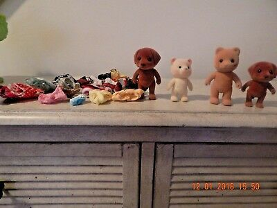 Calico Critters Lot Of 24 W/4 Critters And 20 Pc Clothing, Euc--L