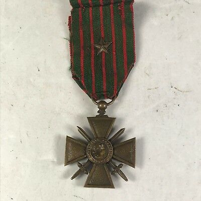 Original WW1 French 1914 - 1918 Croix De Guerre with Battle Star
