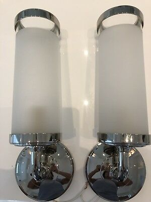 Waterworks Sconce, Pair, Nickel
