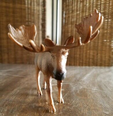 NORTH AMERICAN MOOSE Wild Bull Toy Figure Germany 2002 Schleich Male