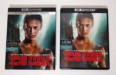 Tomb Raider (2018) 4K UHD + Blu-ray (2-Disc) w/ Near Mint Slipcover - No digital