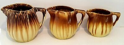 Vintage Cornwells Brunswick Pottery Jugs Set Of 3